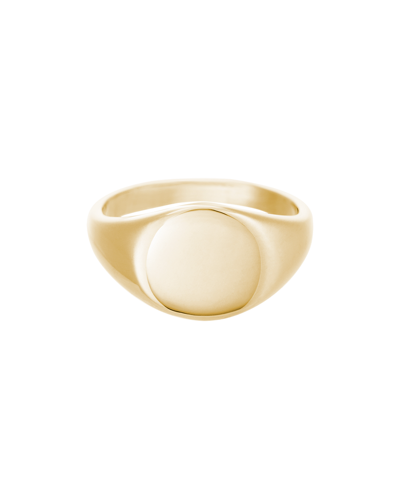 ENGRAVABLE SIGNET RING (18K-GOLD-VERMEIL)