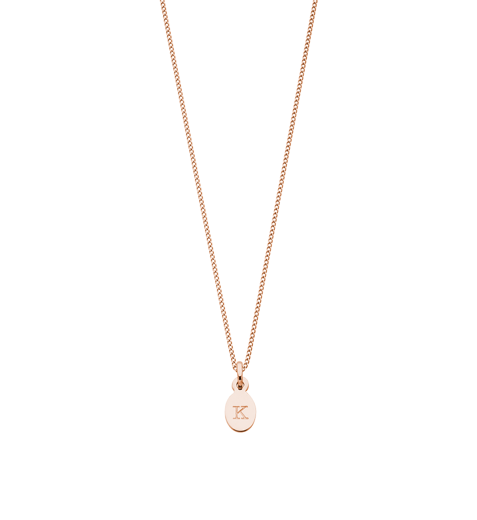 INITIAL NECKLACE A-Z (18K-ROSE GOLD-VERMEIL)