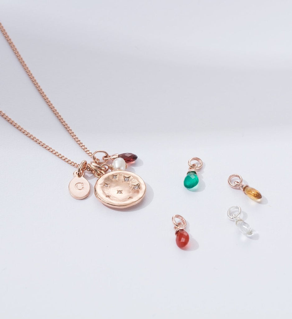 RED AGATE GEMSTONE (18K-ROSE GOLD-VERMEIL) Image 05