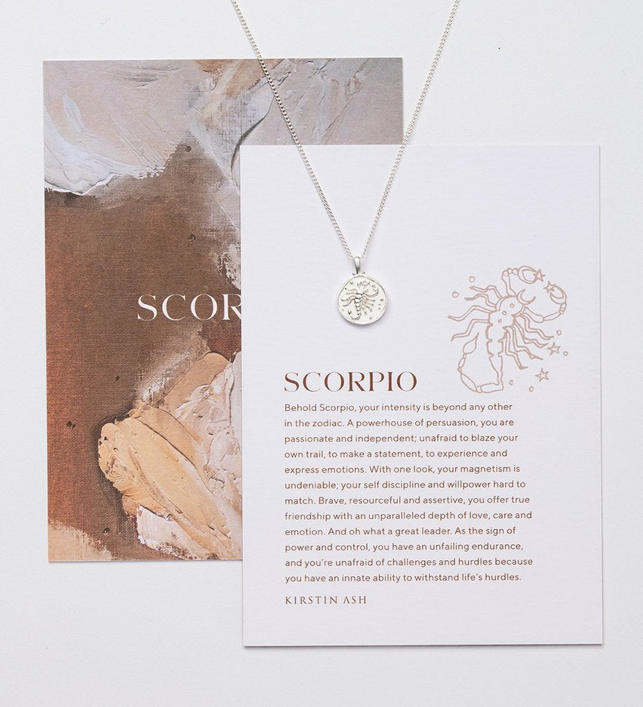SCORPIO ZODIAC NECKLACE (STERLING SILVER)