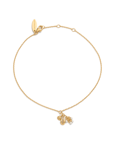 SHELL CLUSTER ANKLET (18K-GOLD-PLATED) 01