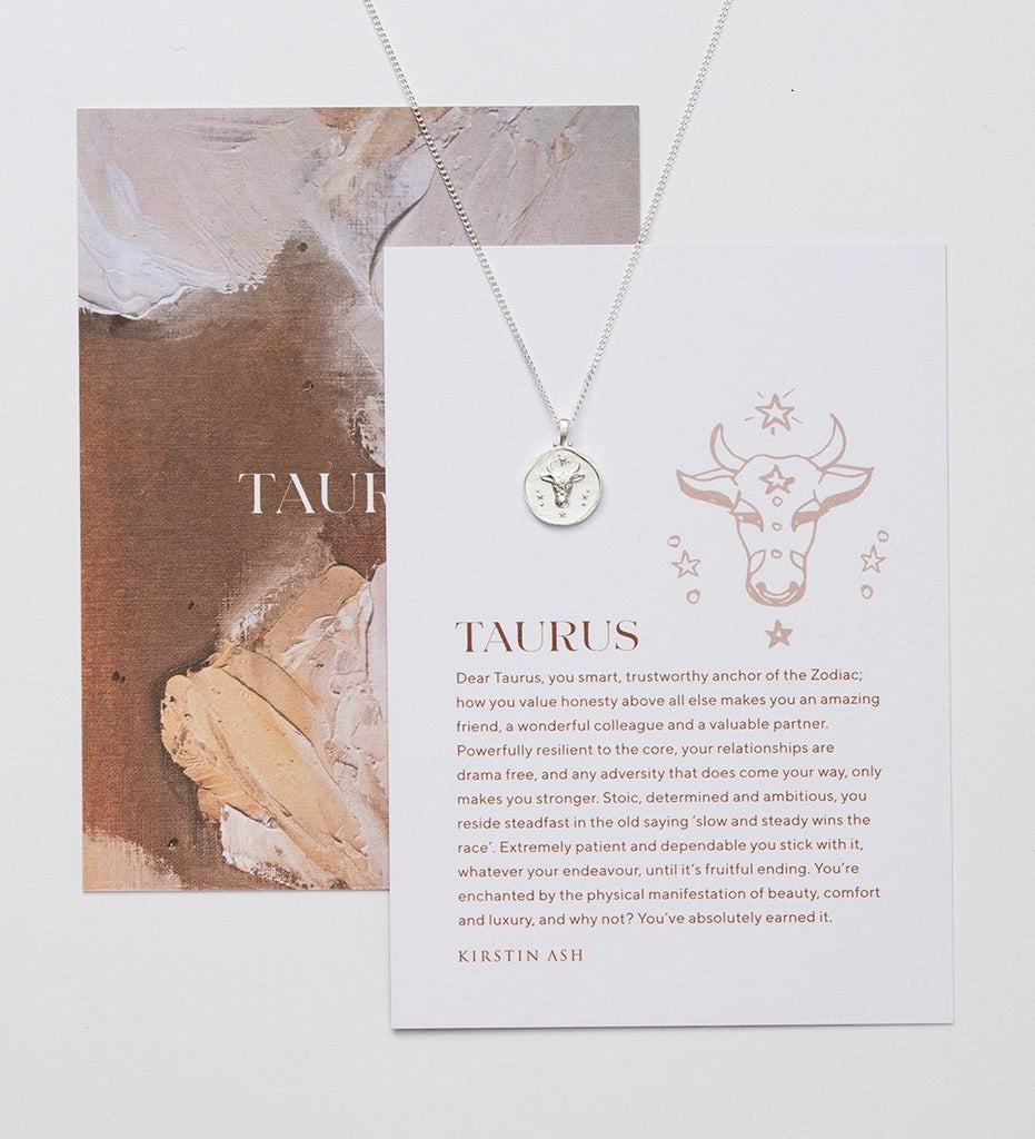 TAURUS ZODIAC NECKLACE (STERLING SILVER)