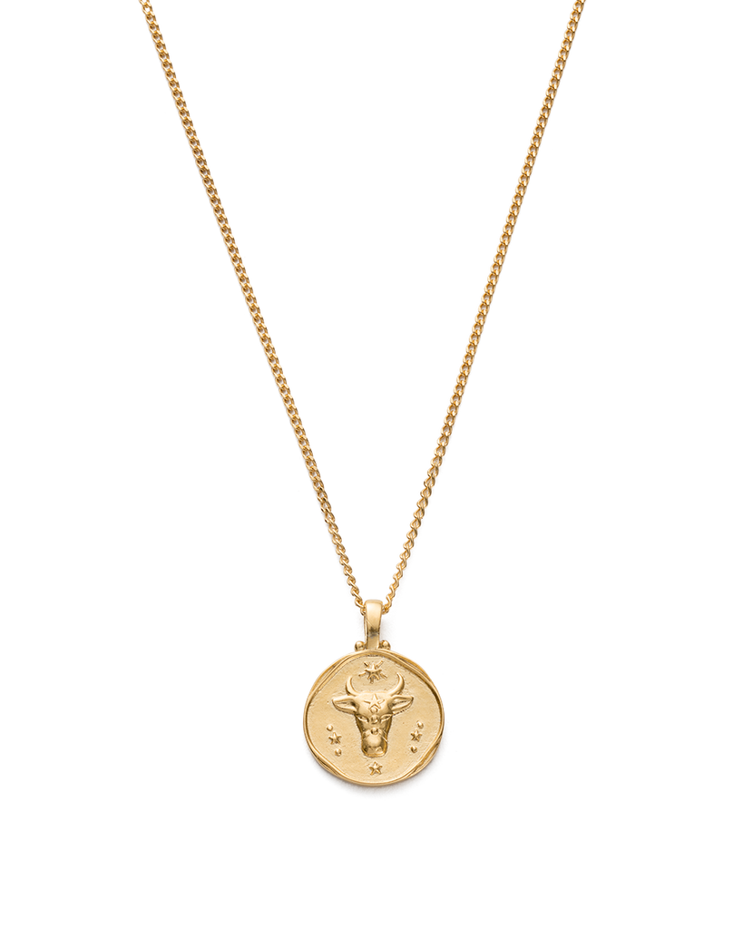 TAURUS ZODIAC NECKLACE (18K-GOLD-VERMEIL)