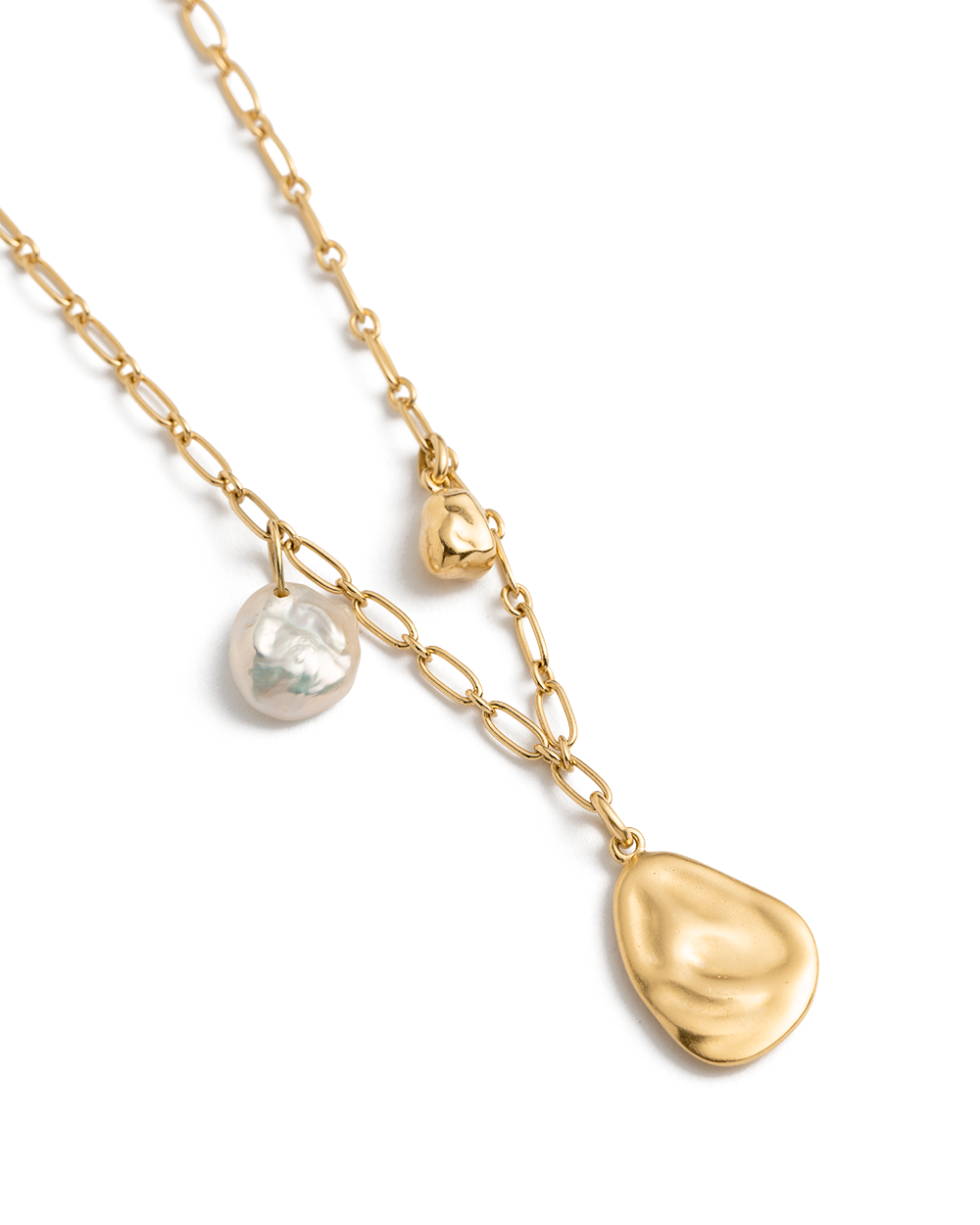 TIDAL PEARL NECKLACE (18K-GOLD-PLATED) 02