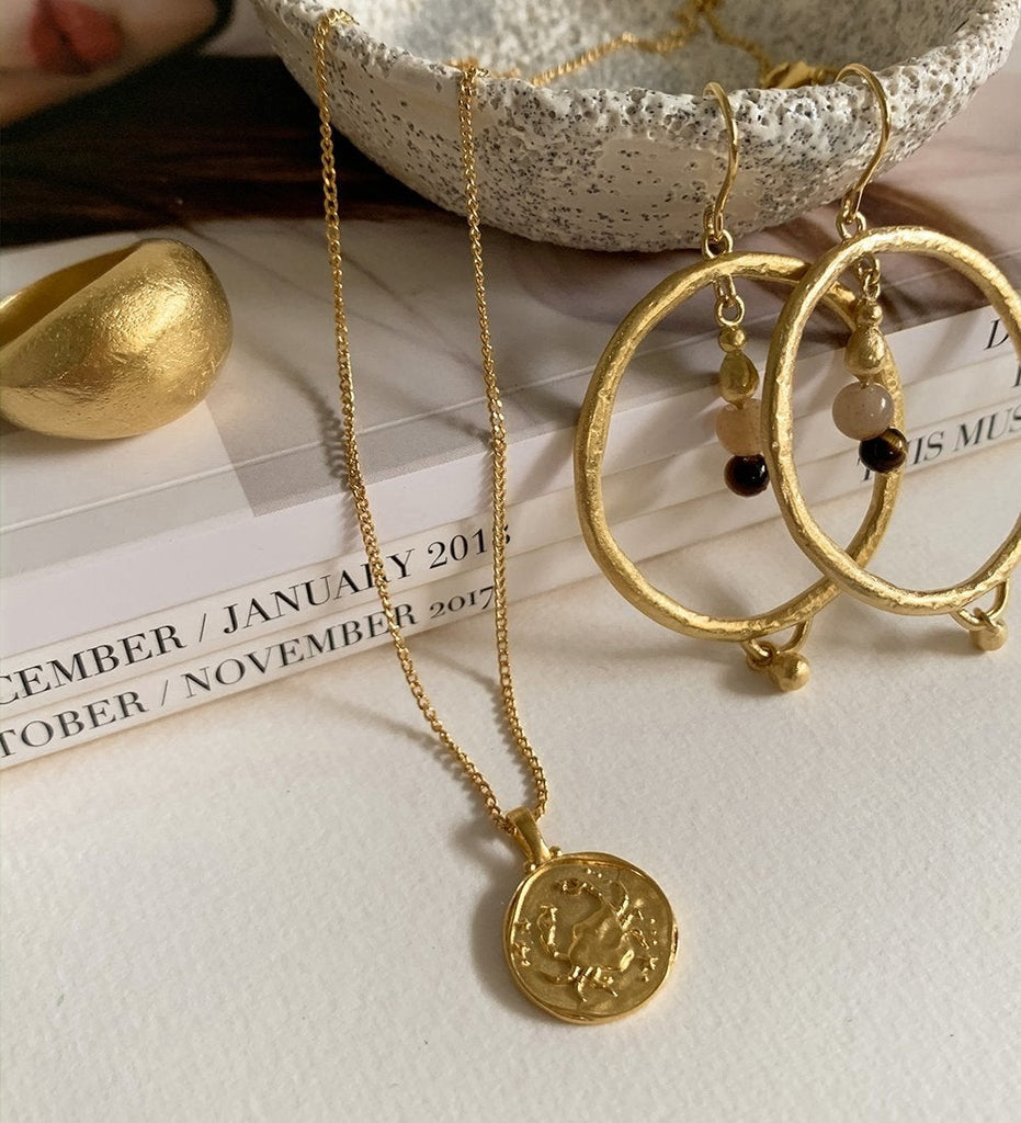 CANCER ZODIAC (18K-GOLD-VERMEIL)