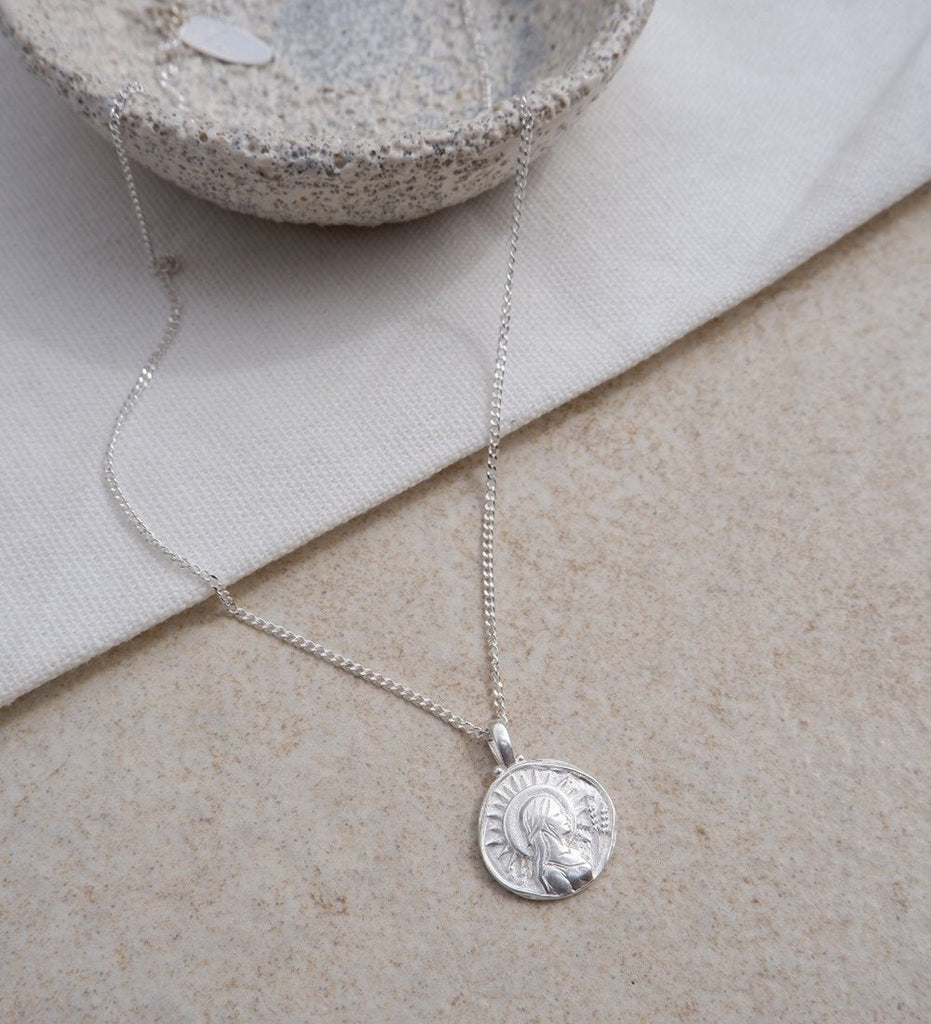 VIRGO ZODIAC NECKLACE (STERLING SILVER)