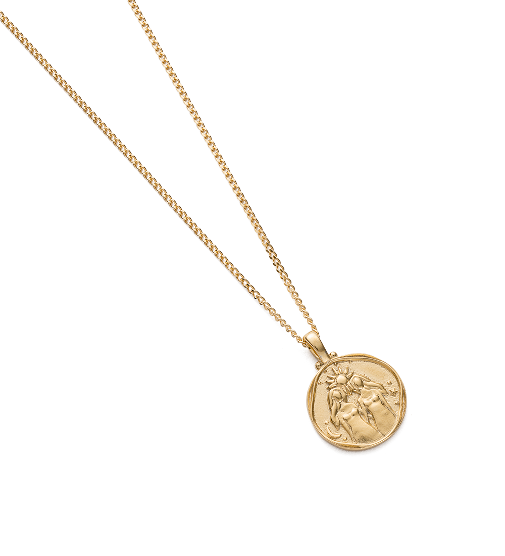 GEMINI ZODIAC NECKLACE (18K-GOLD-VERMEIL) - Image 2