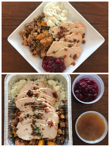Sunday Meal FAMILY STYLE (Serves 4-6) - Roast turkey dinner (Paleo/NGI/DF)