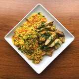 Thursday Meal - Honey turmeric chicken thighs, vegetable rice pilaf (NGI/DF)