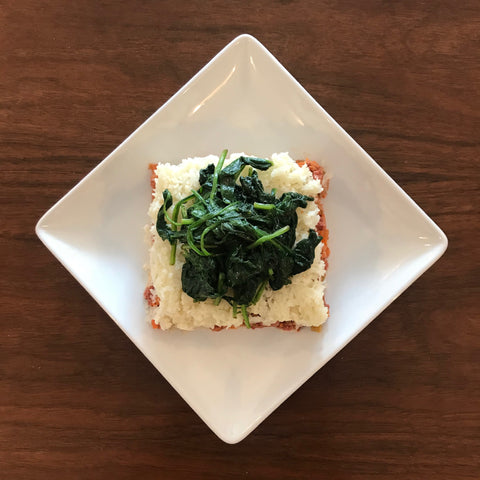 Thursday Meal - Shepherd's Pie, spinach (Paleo/Whole30/NGI/DF/Keto Friendly)