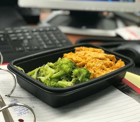 Thursday Meal - Buffalo chicken, broccoli (Paleo, Whole30, Keto friendly)