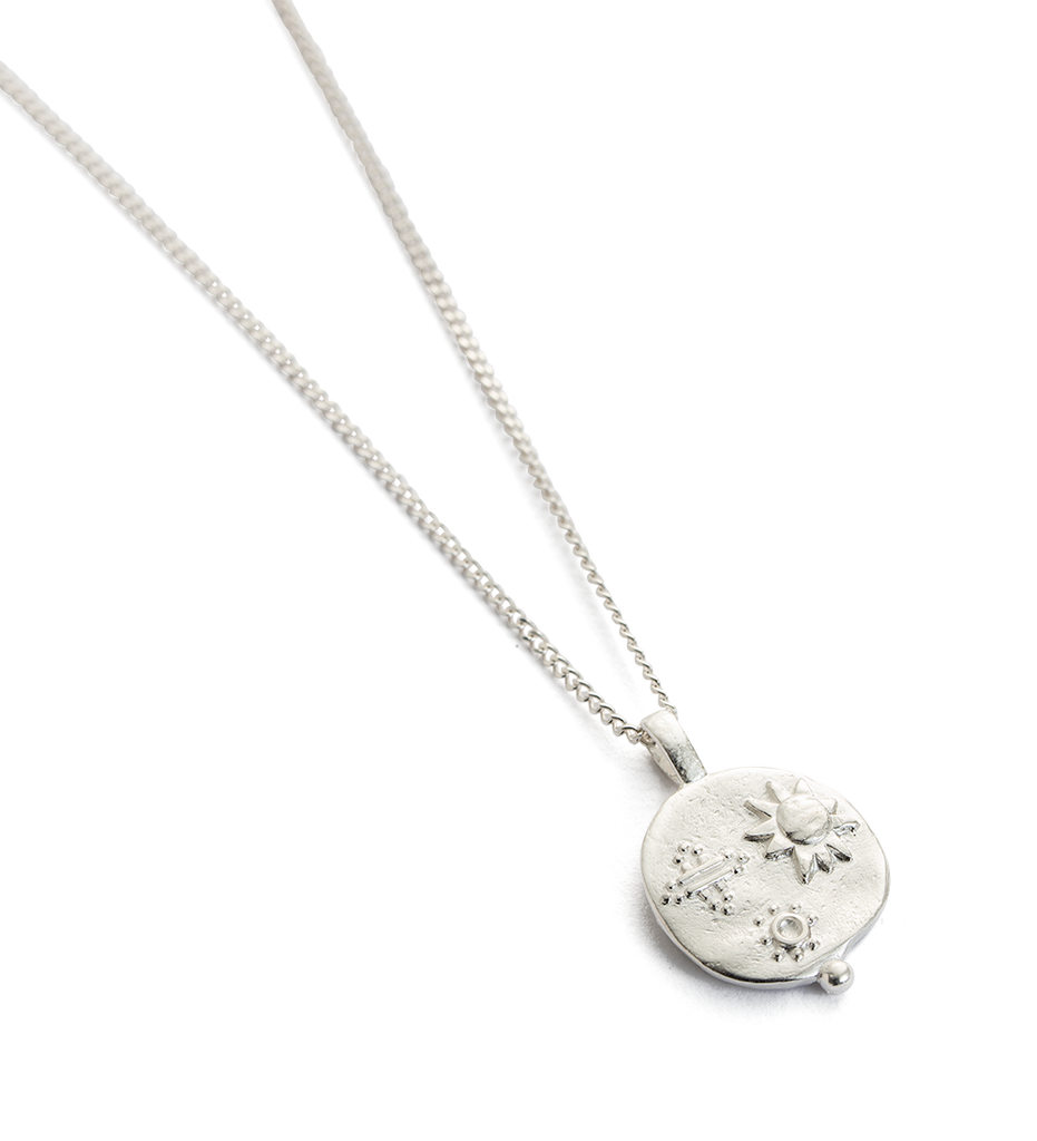 DESERT SUN COIN NECKLACE (STERLING SILVER)