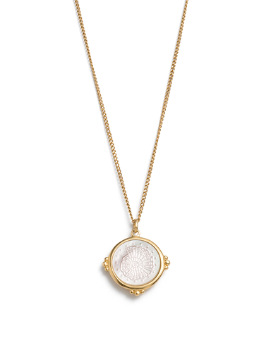 FOSSIL SHELL NECKLACE (18K-GOLD-VERMEIL) 01