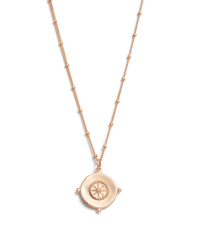 SAIL AWAY COIN NECKLACE (18K-ROSE GOLD-VERMEIL) 01