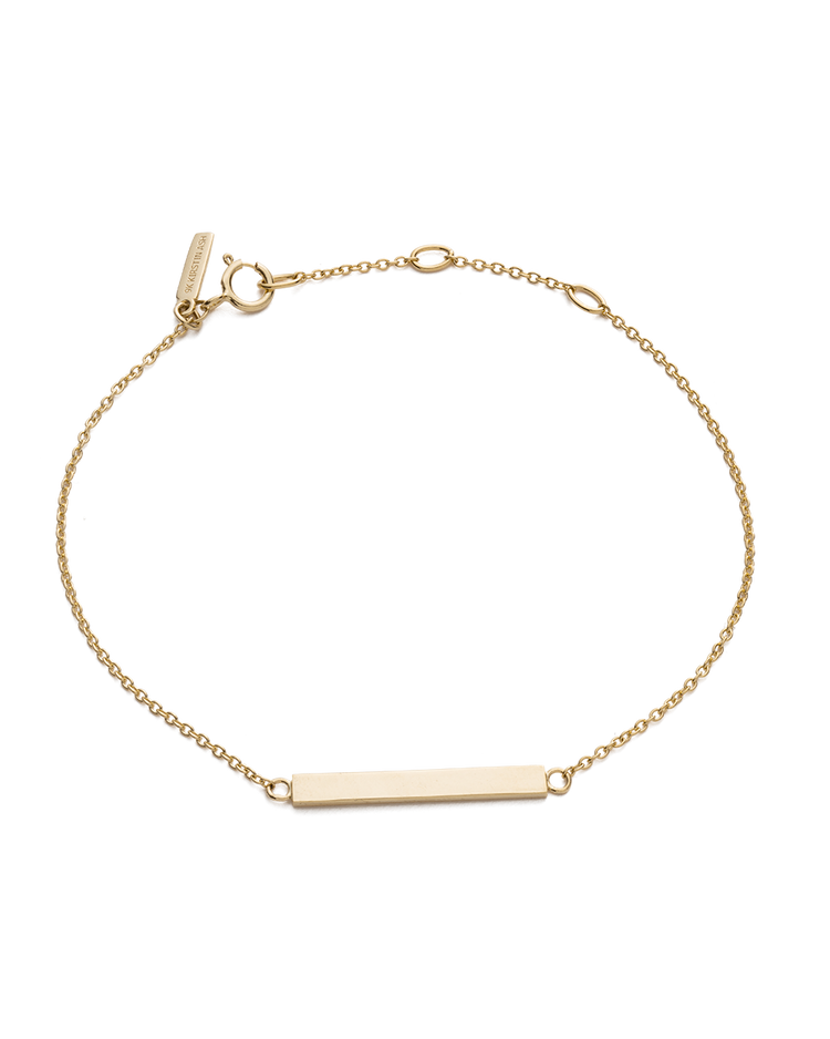 SENTIMENT BAR BRACELET (9K GOLD)