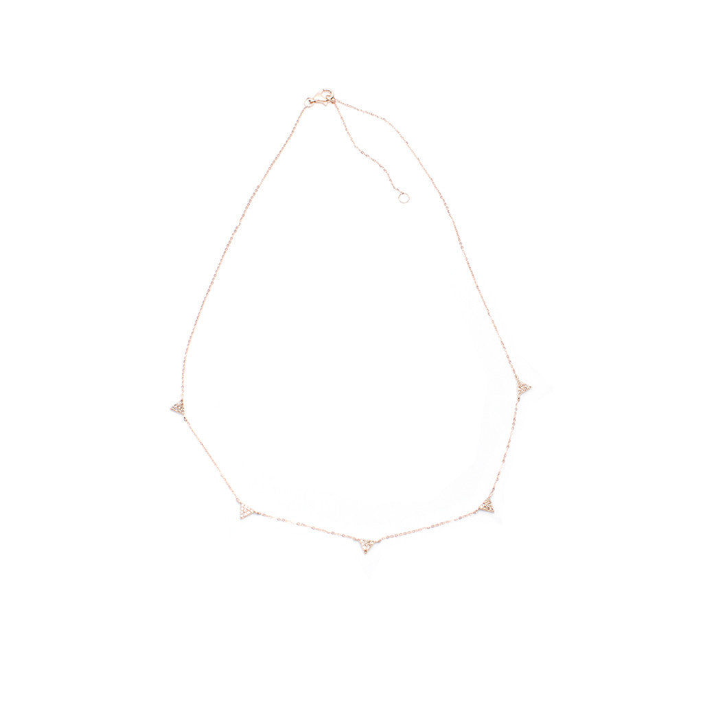 Sanlo Private Collection | Rose Gold Chain Triangle Charm Necklace