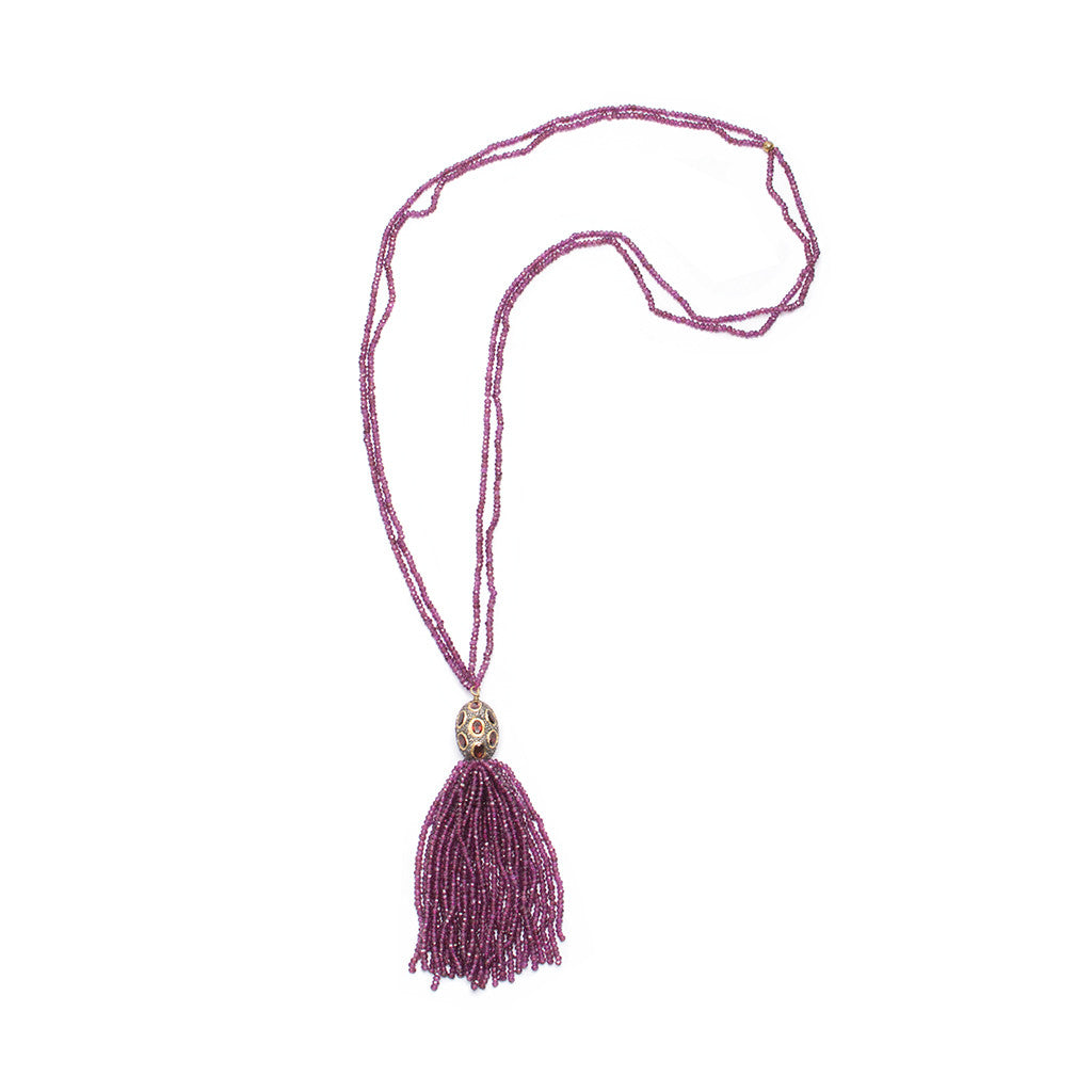 Sanlo Private Collection | Garnet Tassel Necklace
