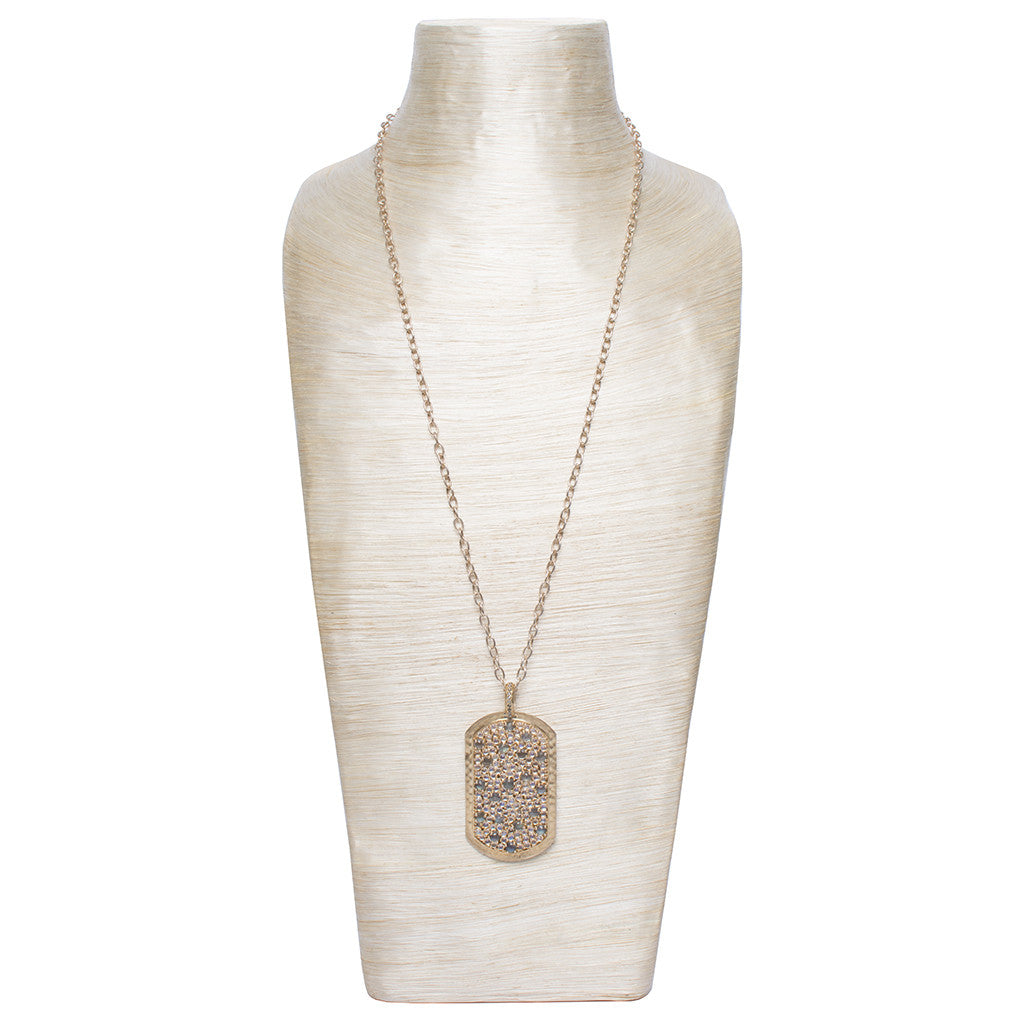 Sanlo Private Collection | Gold Chain Moonstone-Labradorite Pendant Necklace