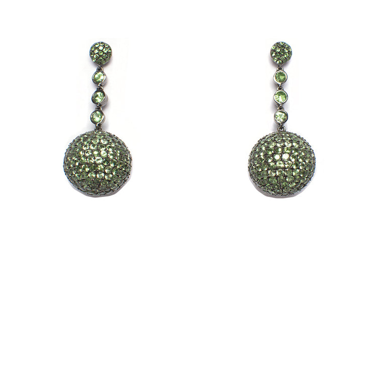 Sanlo Private Collection | Green Tsavorite Earrings