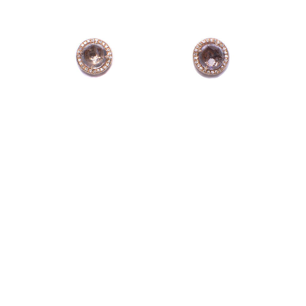 Sanlo Private Collection | R/G Amethyst Stud Earrings