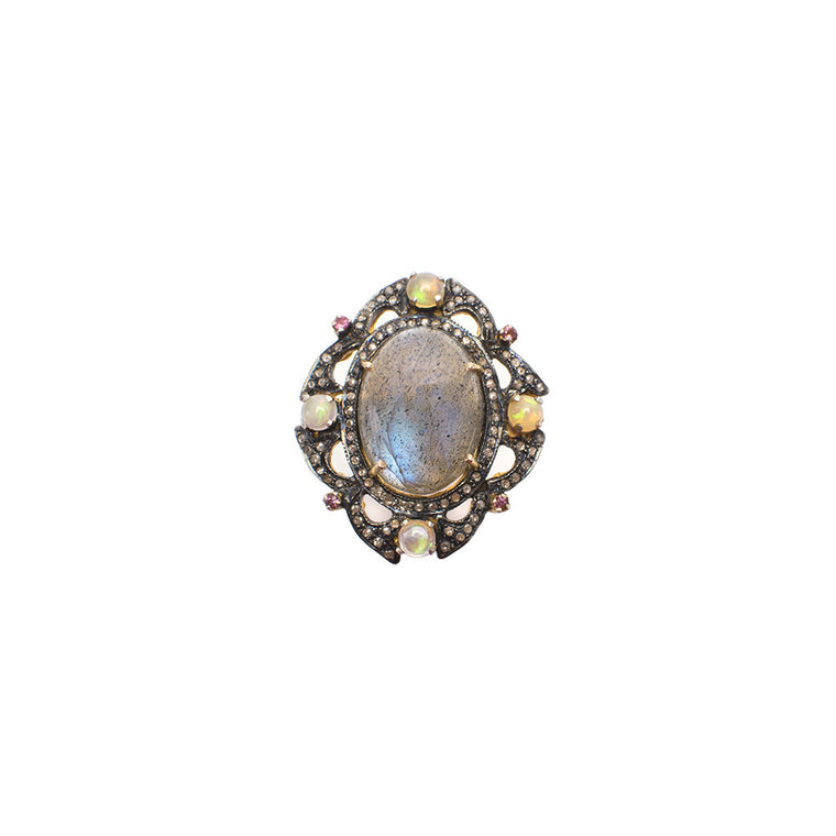 Sanlo Private Collection | Labradorite-Opal Ring