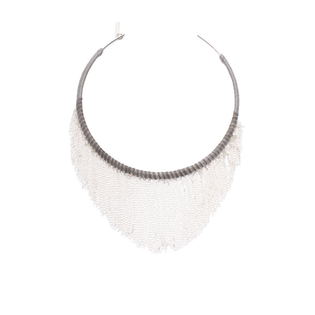 Sanlo Private Collection | Silver Fringe Choker