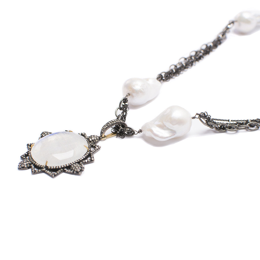 Santos Collection | Moonstone Pendant Necklace
