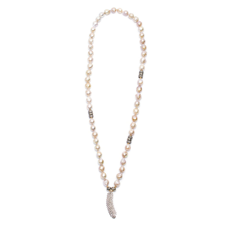 Santos Collection | Feather Pendant Necklace