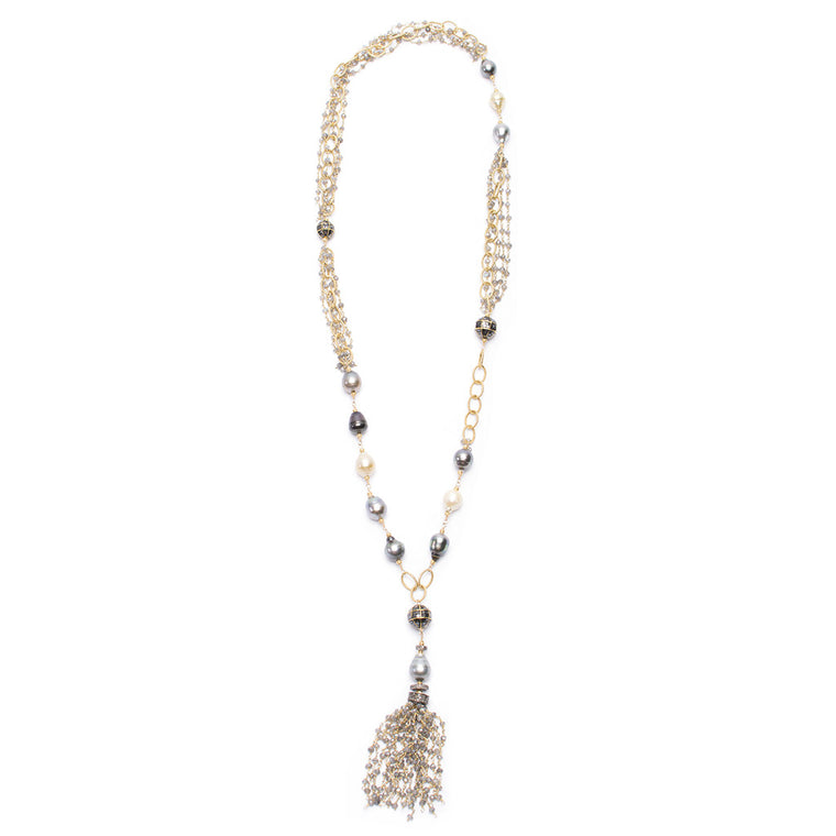 Santos Collection | Tahitian Pearl Tassel Necklace