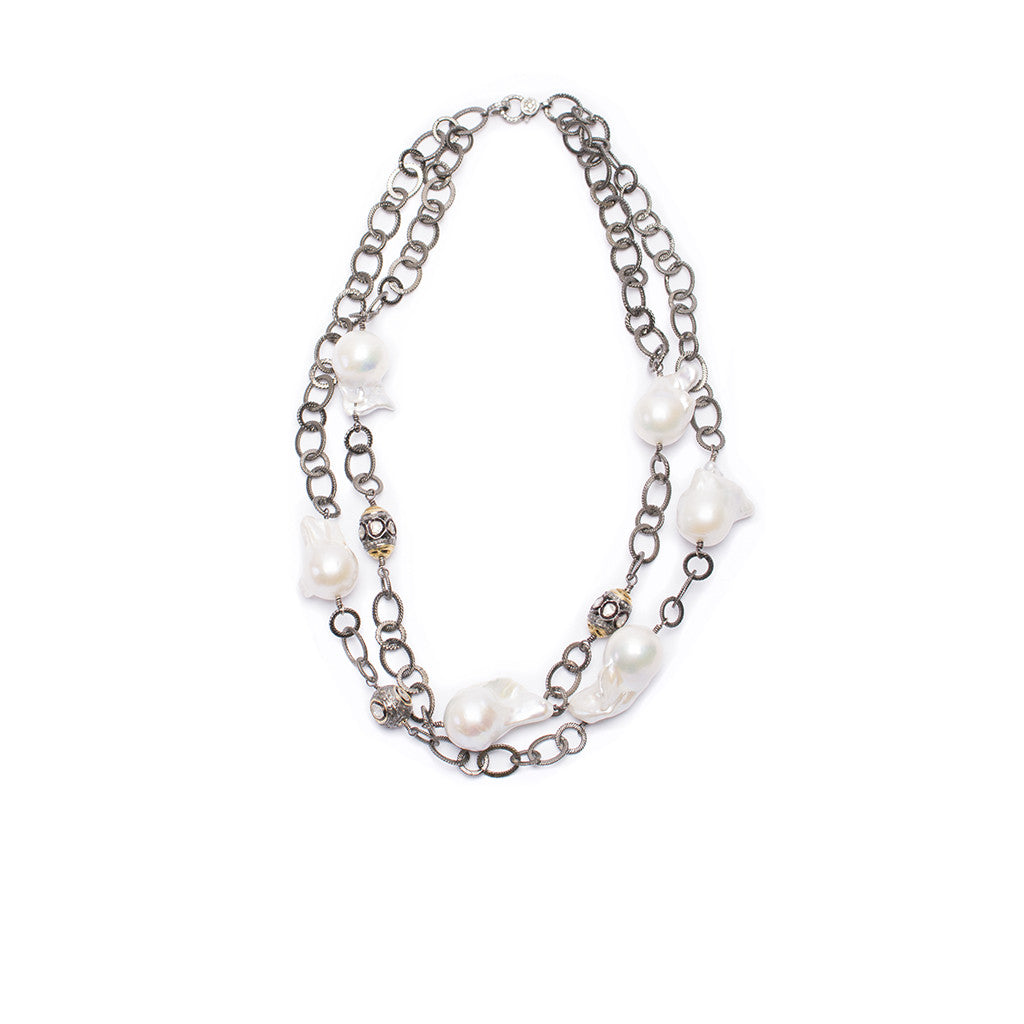 Santos Collection | Pearl/Chain Choker