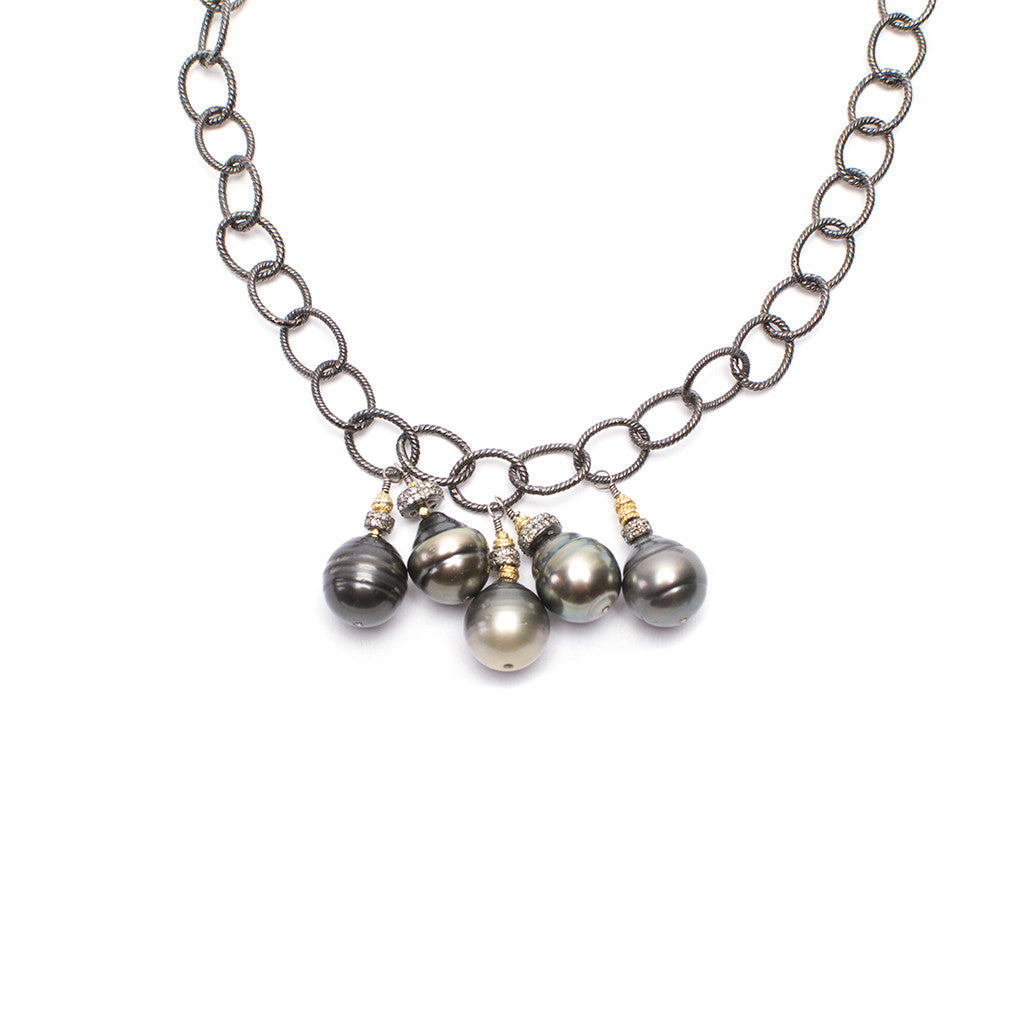 Santos Collection | Pearl/Chain Choker Necklace