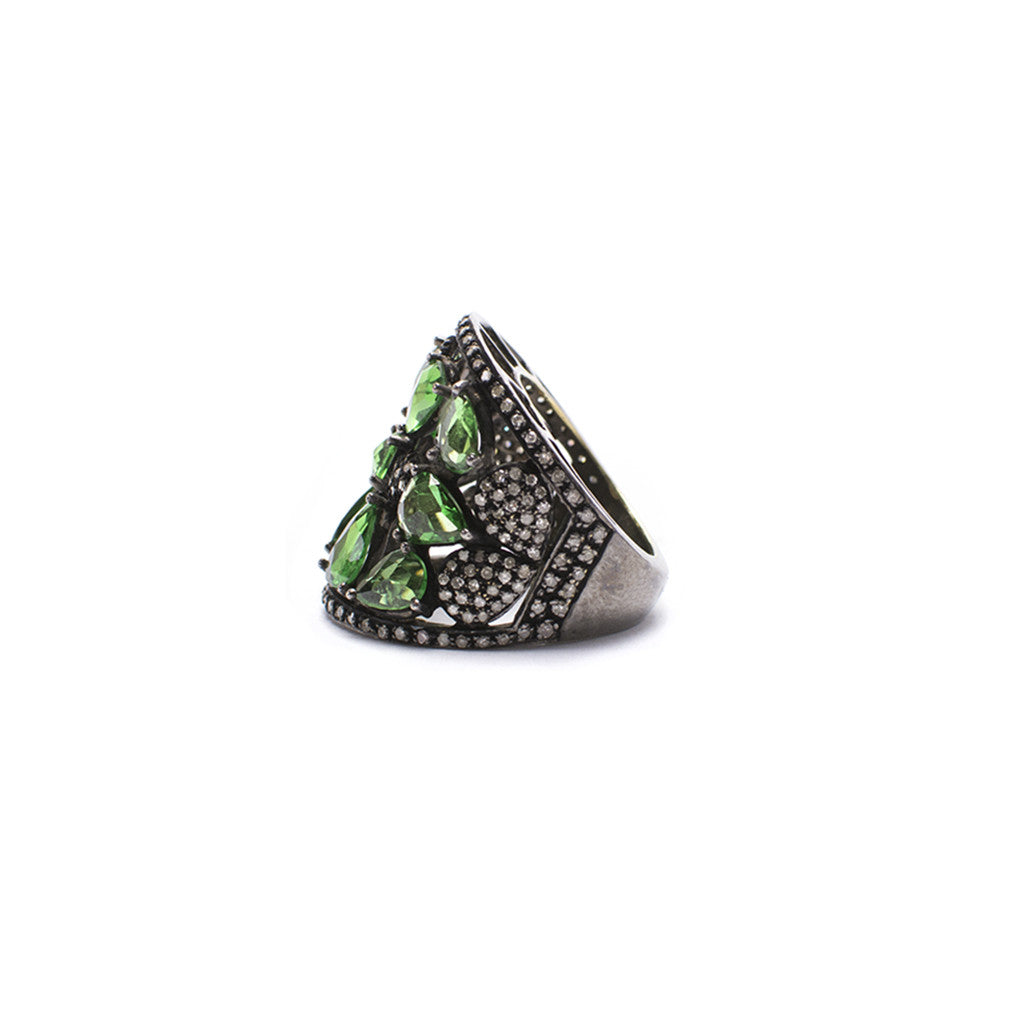 Sanlo Private Collection | Green Tsavorite Ring