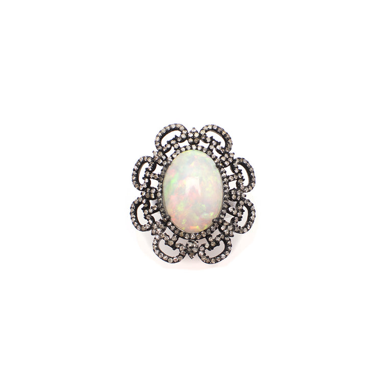 Sanlo Private Collection | White Opal Ring