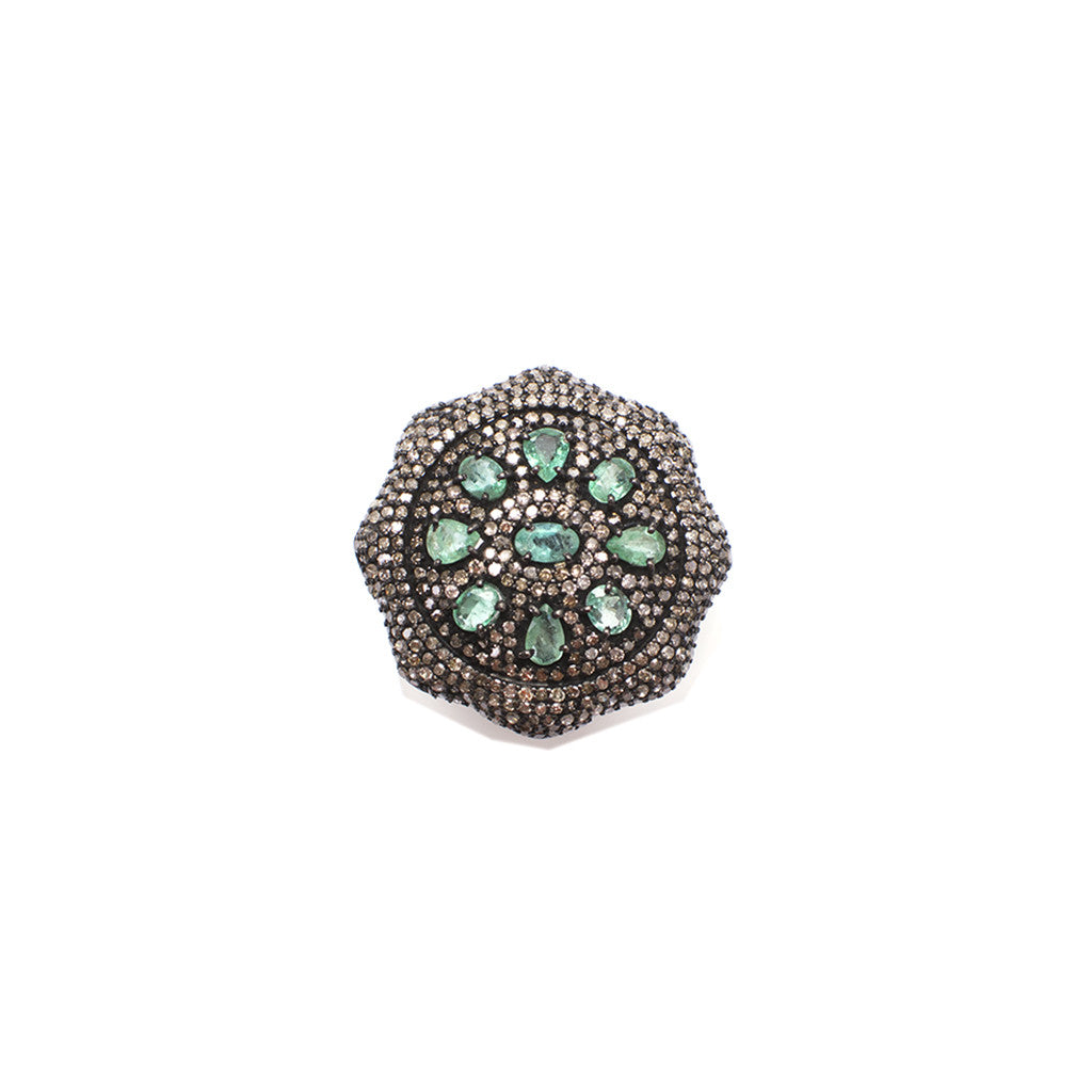 Sanlo Private Collection | Emerald Round Ring