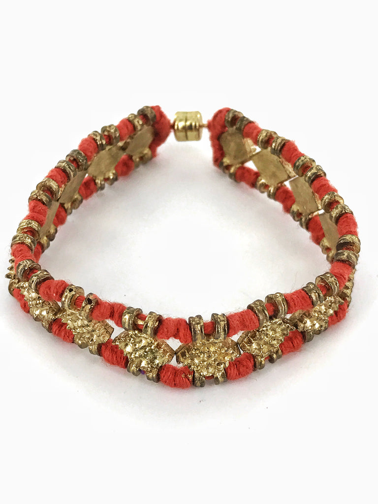 Double Bracelet with Gold Embellishments