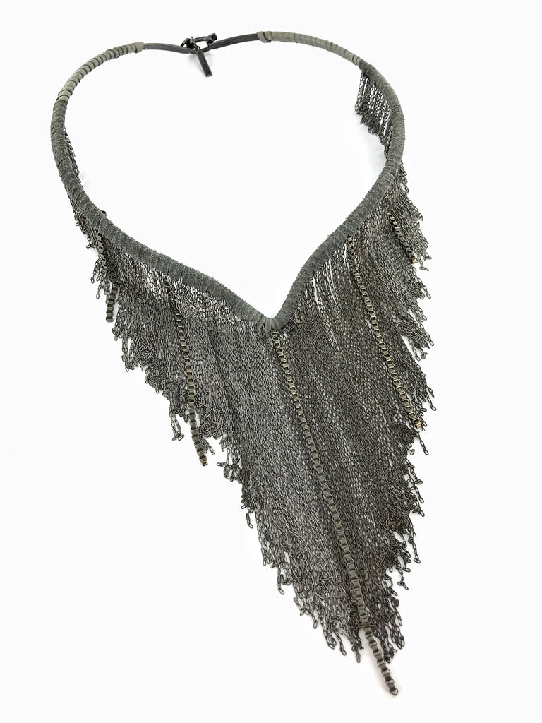 Wire Choker with Fringe