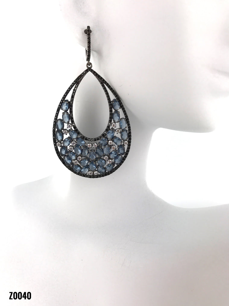 London Blue Swarovski Diamonds