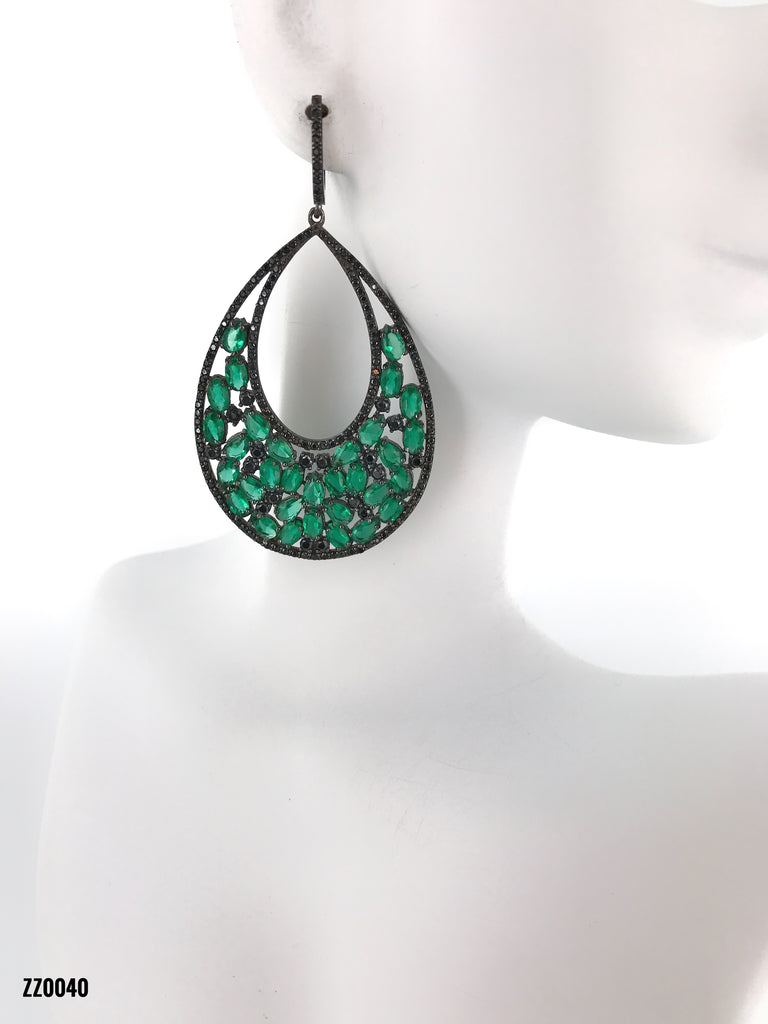 Green Swarovski Diamonds
