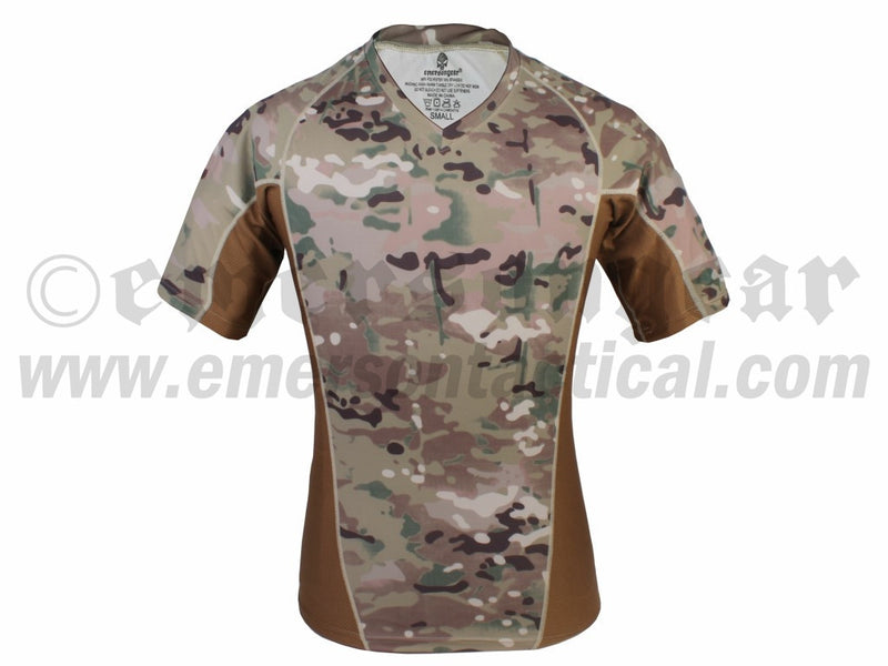Skin Tight Base Layer Camo Running Shirts (V-neck)