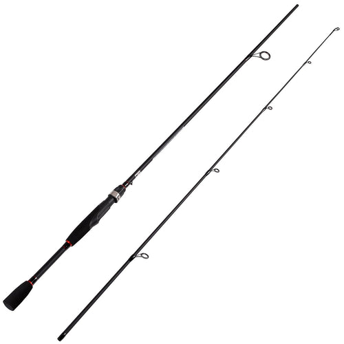 Fiblink® 2-Piece Graphite Ultra Light Medium Spinning Fishing Rod Spin Pole (Medium Power, Fast Action)