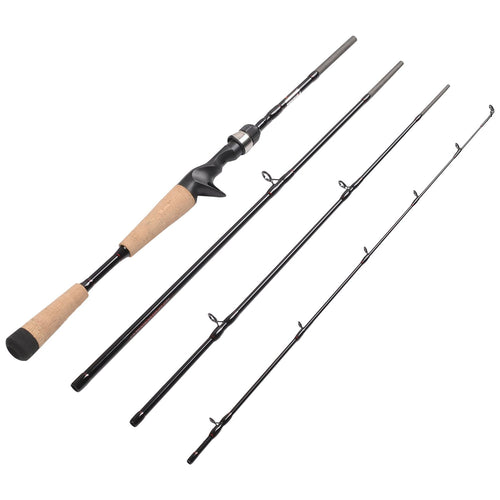 Fiblink 4 Pieces Travel Casting Rod Graphite Baitcasting Fishing Rod Portable Fishing Rod