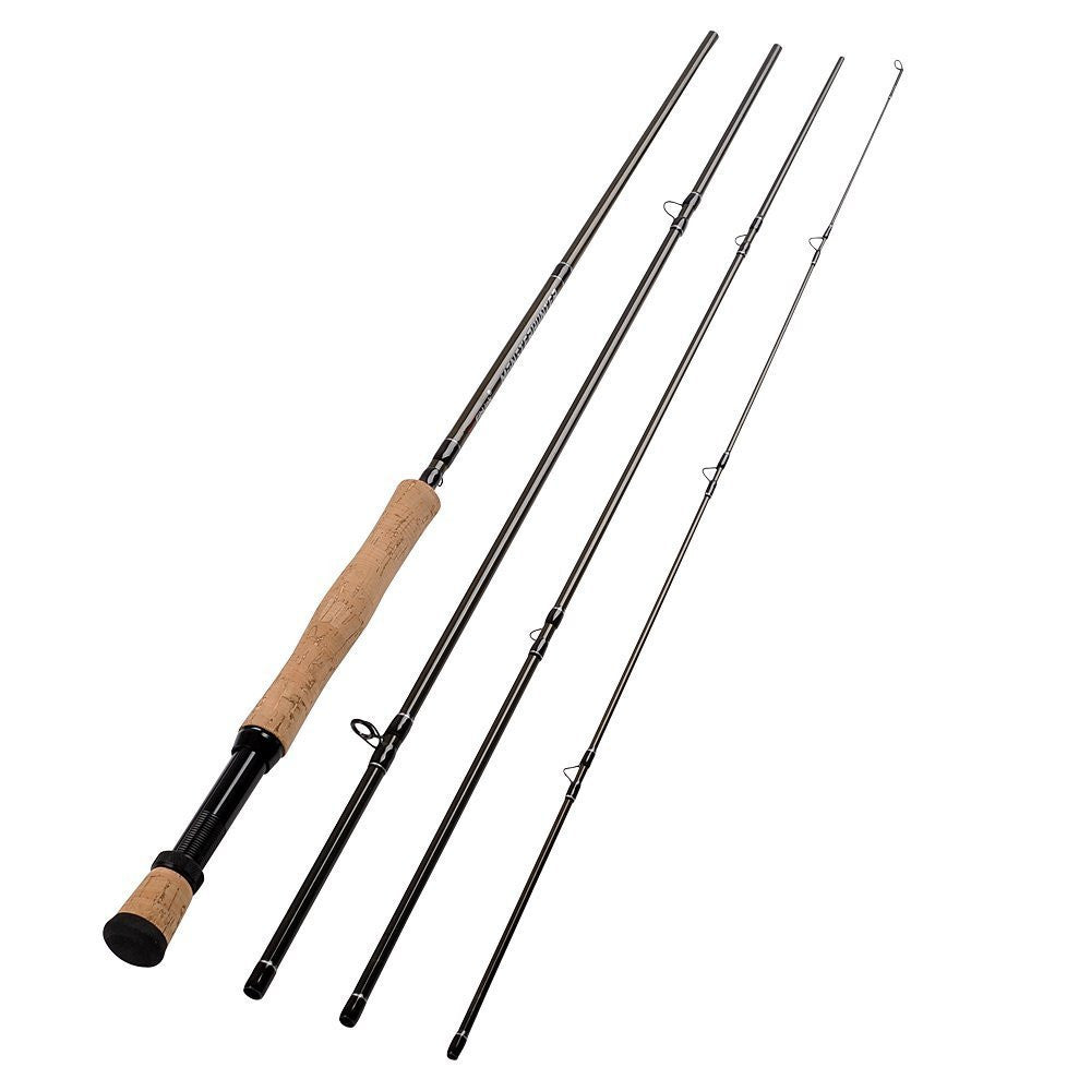 Fiblink 4-Piece Lightweight Portable Graphite Fly Fishing Rod With 30-ton Carbon Fiber Blanks