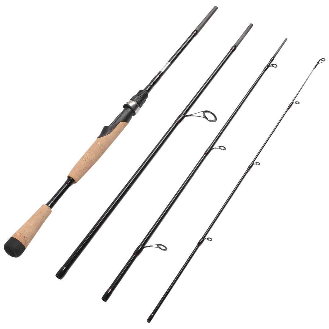Fiblink 4 Pieces Travel Spinning Rod Medium Graphite Spinning Fishing Rod Portable Fishing Rod