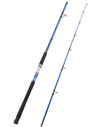 Fiblink 2-Piece Saltwater Spinning Fishing Rod Offshore Graphite Portable Fishing Rod (7-Feet)