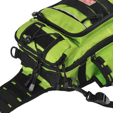 Fiblink Waterproof Sports Single Shoulder Fishing Tackle Bag Backpack or Handbag Crossbody Messenger Sling Bags for Camping Hiking Cycling Outdoors Sport(Green)