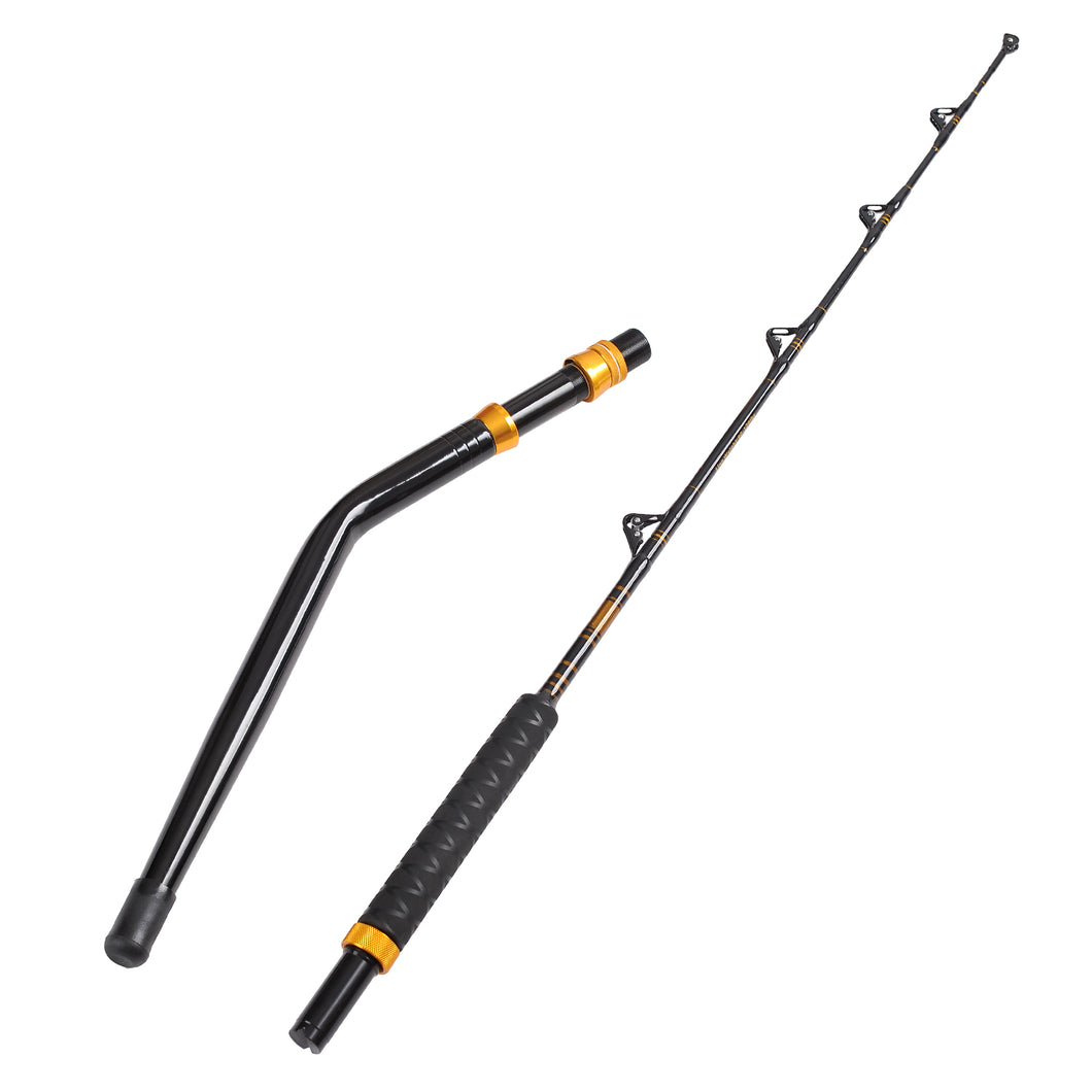 Fiblink Bent Butt Fishing Rod 2-Piece Saltwater Offshore Trolling Rod Big Game Roller Rod Conventional Boat Fishing Pole