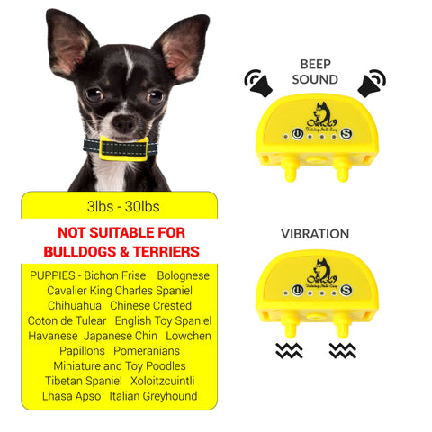 Yellow Vibration Bark Collar