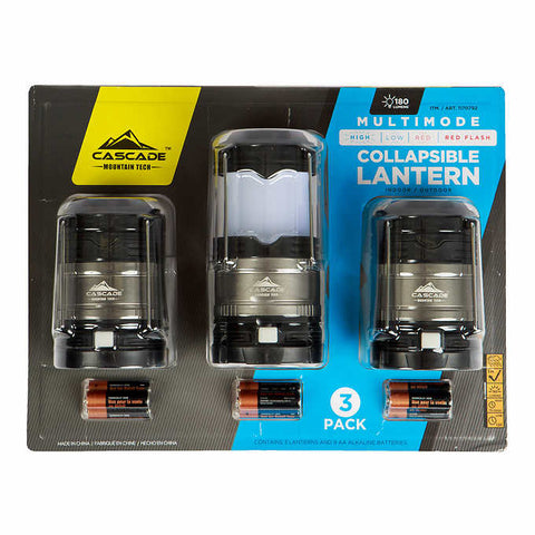 Cascade Mountain Tech 3-pack Multimode LED Lantern