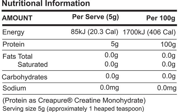 ATP Science Creatine Monohydrate 500g-Creatine-Supplement Solutions