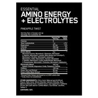 Optimum Nutrition Amino Energy + Electrolytes-Amino Acids-Supplement Solutions
